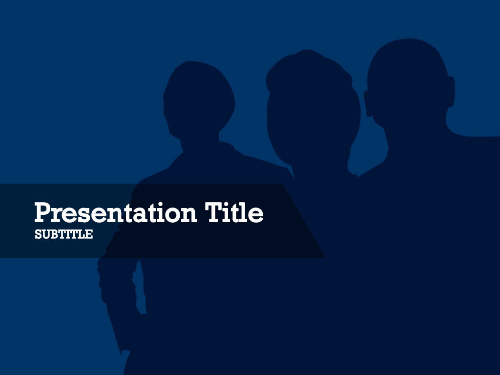 free-people-silhouttes-on-a-blue-background-PPT-template
