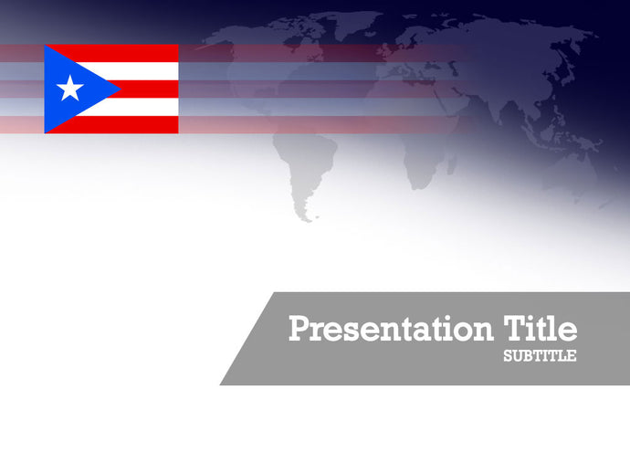 free-puerto-rico-flag-PPT-template