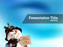 Load image into Gallery viewer, free-snowman-PPT-template