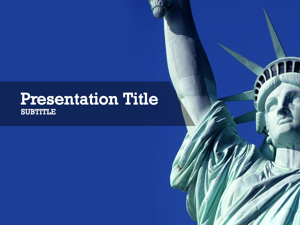 free-statue-of-liberty-PPT-template