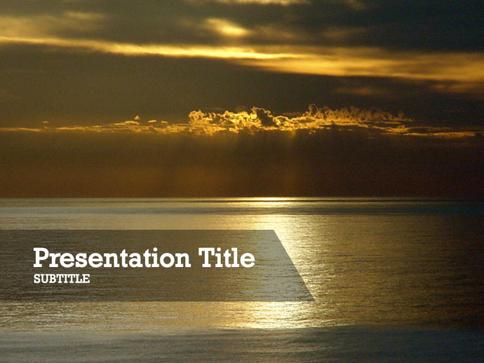 free-sunset-over-the-ocean-PPT-template