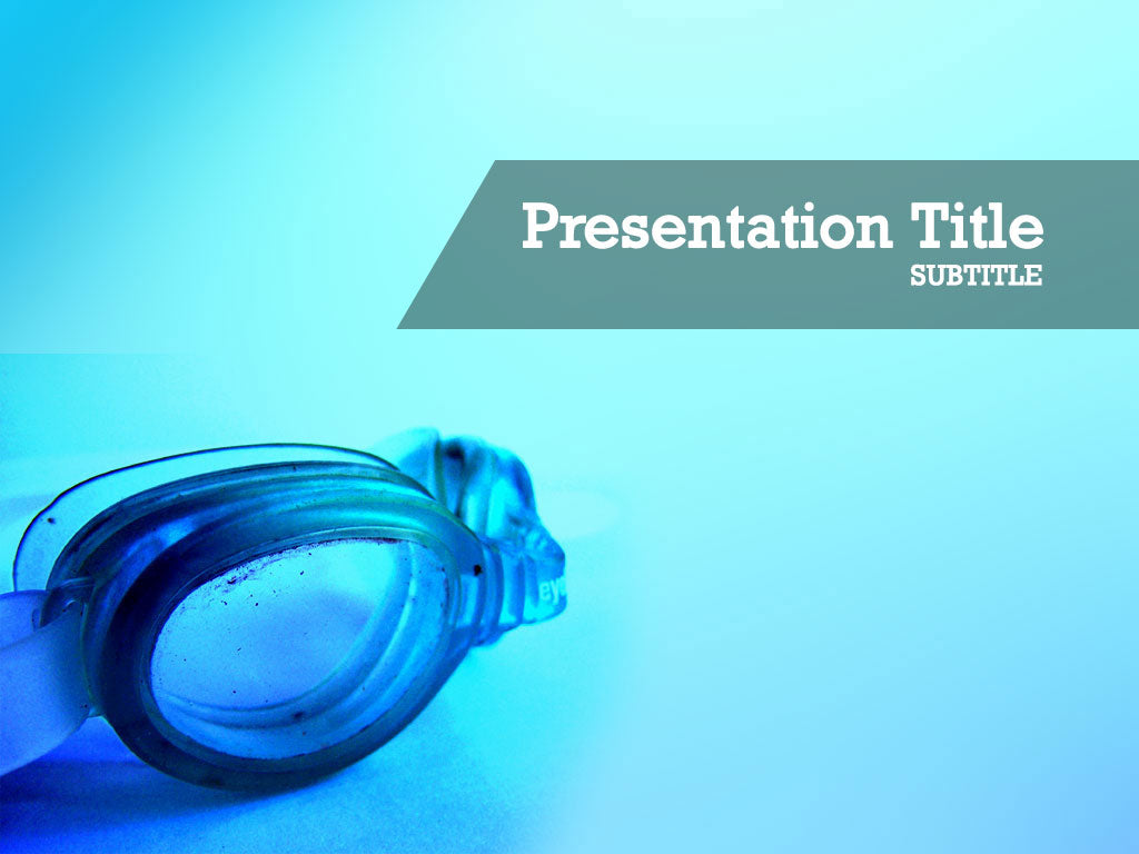 free-swimming-googles-PPT-template