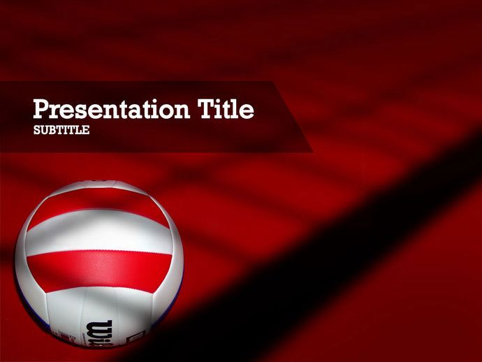 free-volley-ball-PPT-template
