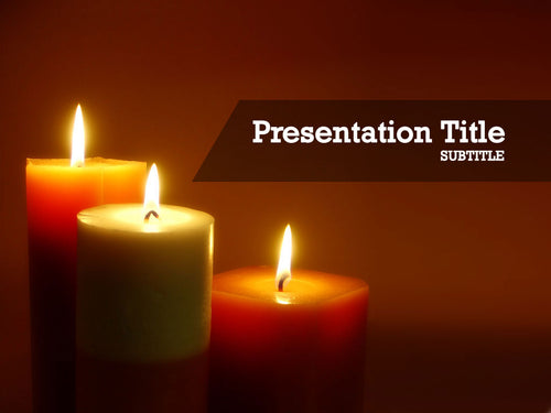 free-warm-candle-light-PPT-template
