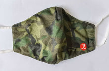 Load image into Gallery viewer, Rhino Reusable Cloth Fashion Face Mask - Green Camo