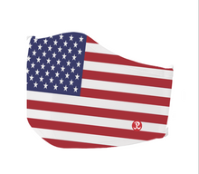 Load image into Gallery viewer, Rhino Reusable Face Mask - USA Flag