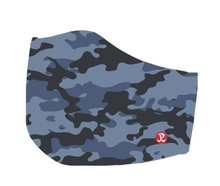 Load image into Gallery viewer, Rhino Reusable Face Mask - Blue Camo