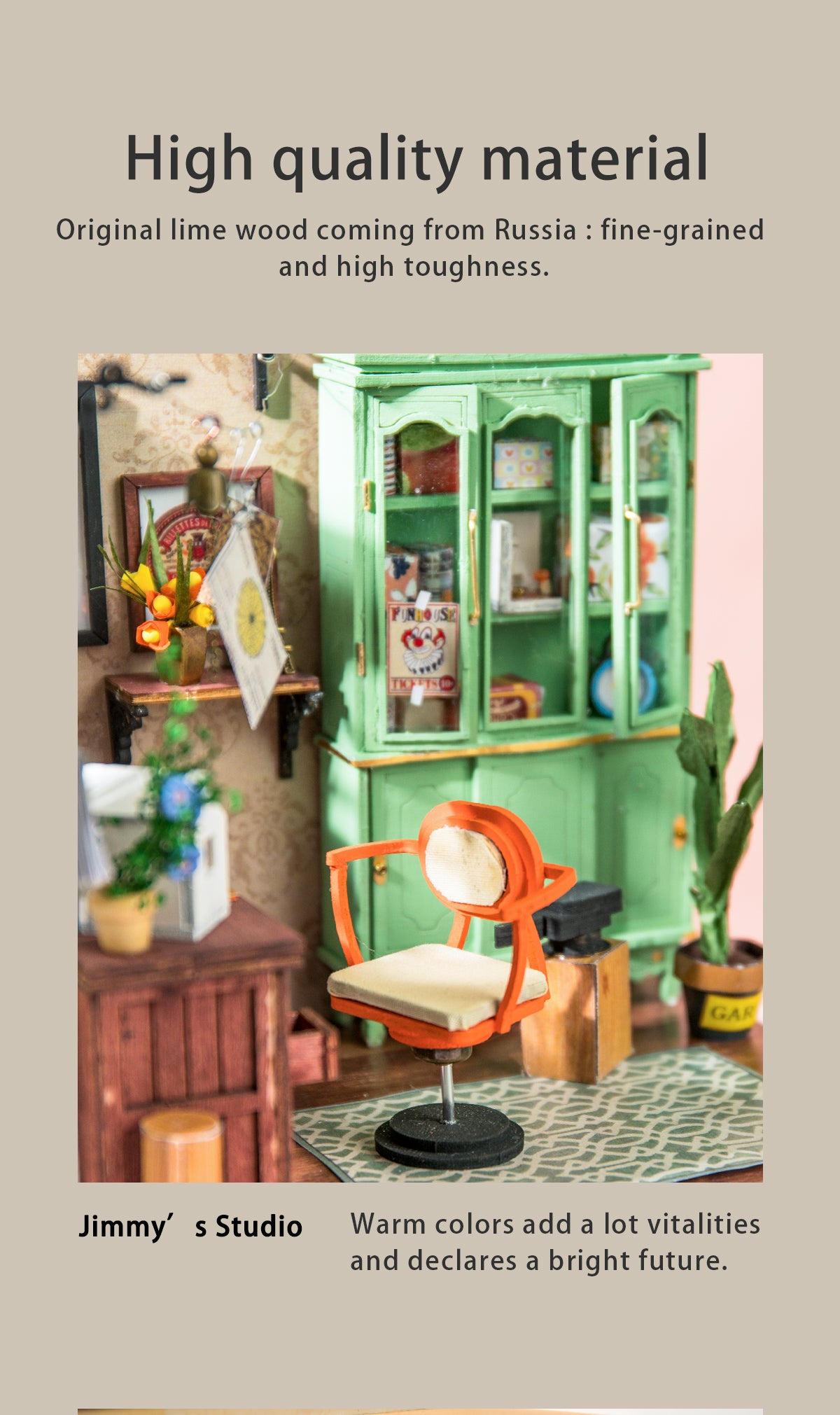 Rolife New Arrival DIY miniature dollhouse | Wonderful Life Series - Jimmy's Studio DGM07