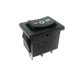 Switch Balancín 10A/125V 6A/250V 1 Polo, 2 Tiros, 3 Posiciones Enclave (ON-OFF-ON)  Rectangular Mini Negro