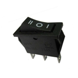 Switch Balancín 20A/125V 15A/250V  1 Polo, 2 Tiros, 3 Posiciones Enclave (ON-OFF-ON) Rectangular Negro