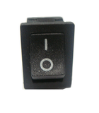 Switch Balancín 6A/125V 3A/250V 2 Polo, 1 Tiros, 2 Posiciones Enclave (ON-OFF) Rectangular Mini Negro