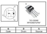 Transistor IRFB3607 Mosfet TO220 CH-N 75 V 80 A
