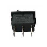 Switch Balancín 10A/125V 6A/250V 1 Polo, 2 Tiros, 2 Posiciones Enclave (ON OFF) Rectangular Mini Negro