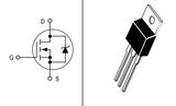 Transistor MTP2N60E Mosfet TO220 CH-N 600 V 2 A