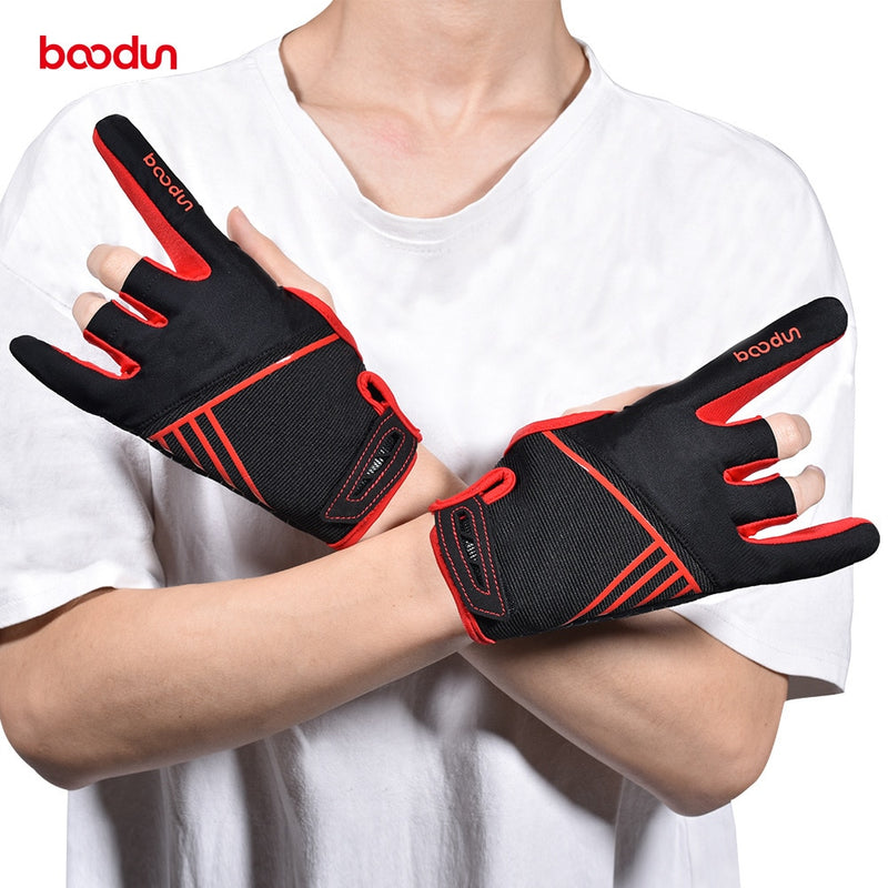1 Pair Boodun Professional Men Women Bowling Gloves Antislip Elastic Breathable Sports Bowling Ball Mittens Bowling Accessories|Bowlings