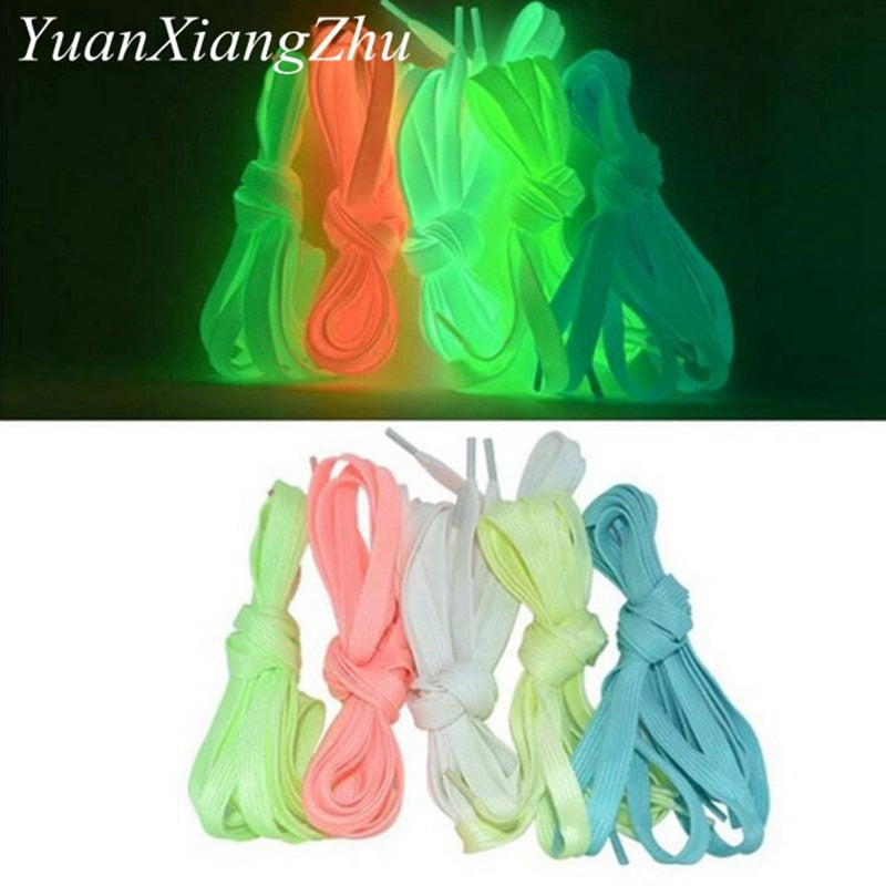 1 Pair Luminous Shoelaces Flat Sneakers Canvas Shoe Laces Glow In The Dark Night Color Fluorescent Shoelace 80/100/120/140cm|Shoelaces