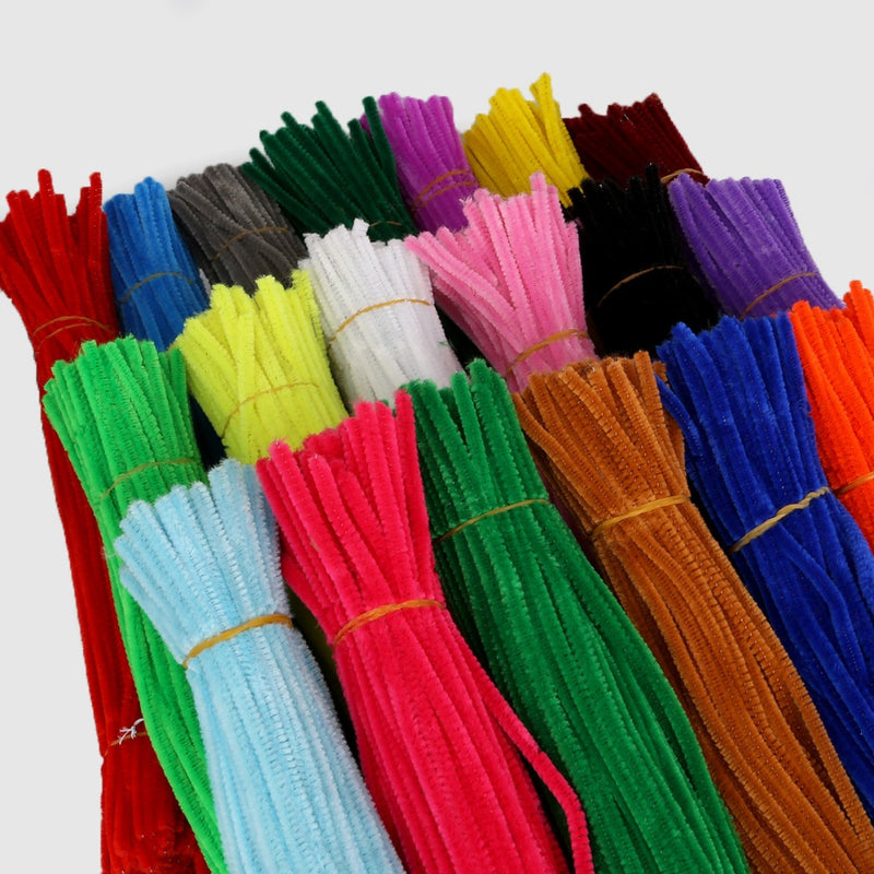 100pcs 5mm x 30cm Multi Color Pipe Cleaners