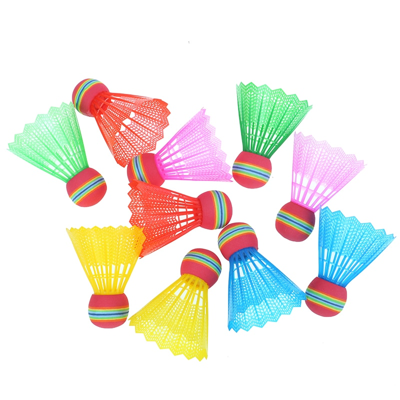 Rainbow Badminton Ball Head 10 pieces