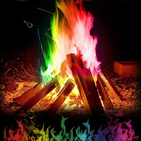 10g/15g/25g Magic Fire Colorful Flames Powder Bonfire Sachets Pyrotechnics Magic Trick Outdoor Camping Hiking Survival Tools|Outdoor Tools