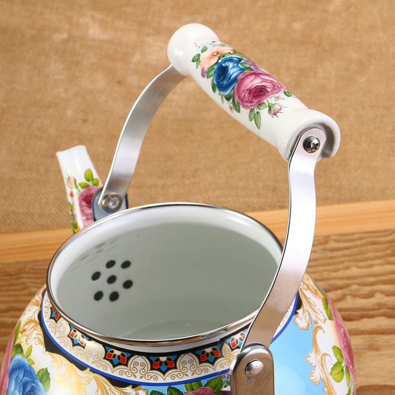1pcs 2.5L Flowers Stamp Pot Smooth Kettle