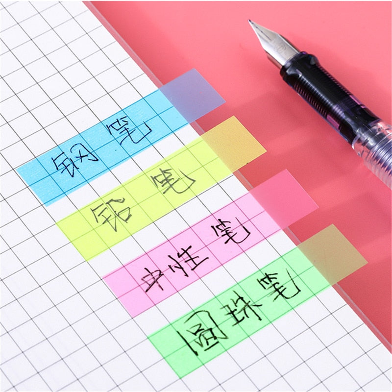 200 sheets Fluorescence Self Adhesive Memo Pad Sticky Notes Bookmark Marker Memo Sticker Paper Student office Supplies|Memo Pads