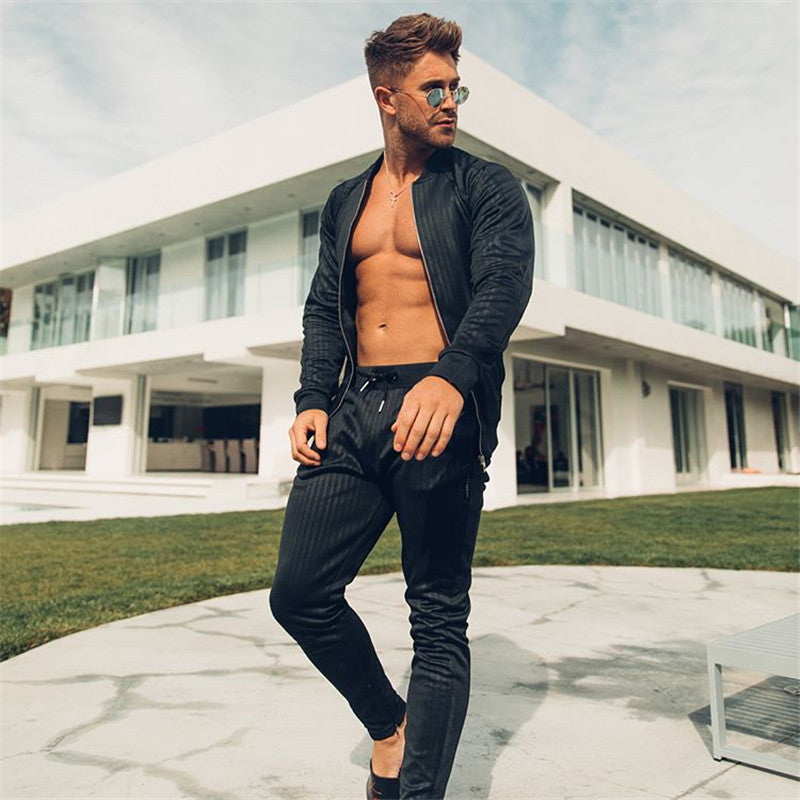 Men's Hoodies Tracksuit Set Male Sweatshirt Sweatpants Sportswear Multi pocket Fashion Trousers High Street Jackets Sets|Men's Sets