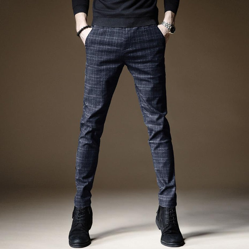 Men Casual Pants Slim Male Pant Straight Trousers Business Pants