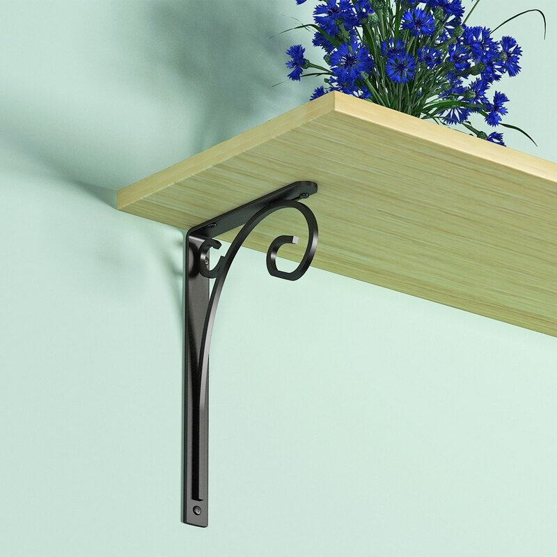 2pcs Shelf Bracket Scroll Shelf Bracket