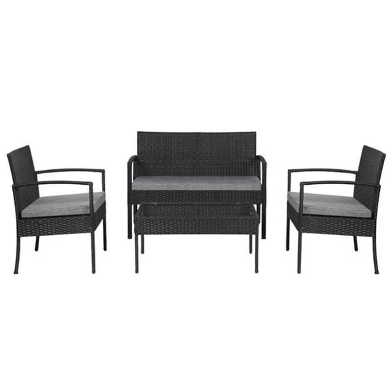 Outdoor Patio Rattan Wicker Furniture Set with Table Sofa