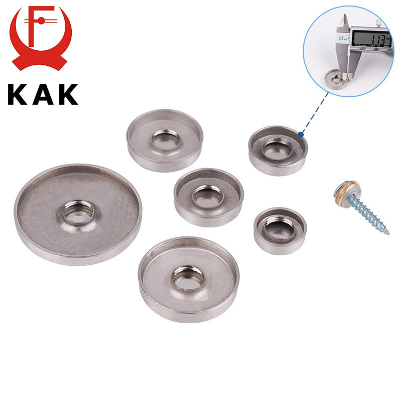 4Set/Bag Glass Fastener Stainless Steel Decorative Cover