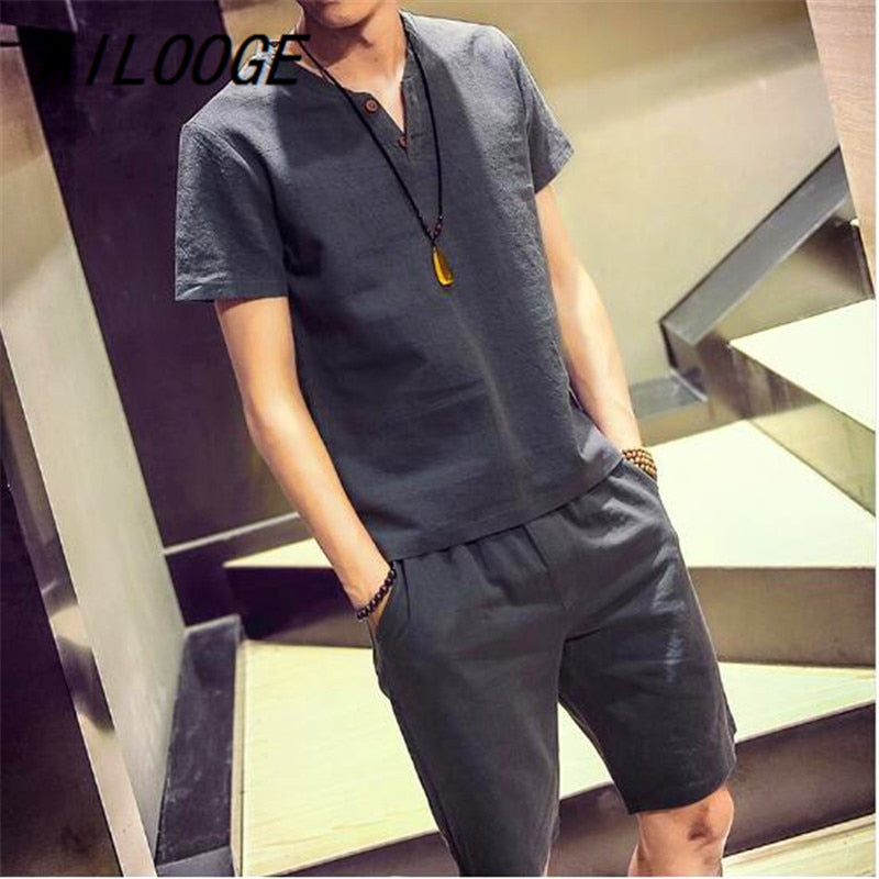 T shirt + shorts Men's Set
