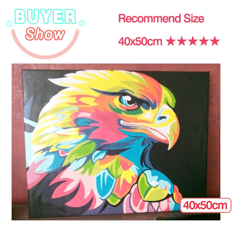AZQSD Paints By Numbers Animals 50x40cm Pictures Oil Painting By Numbers Set Gift Coloring By Numbers Canvas Wall Set|Paint By Number