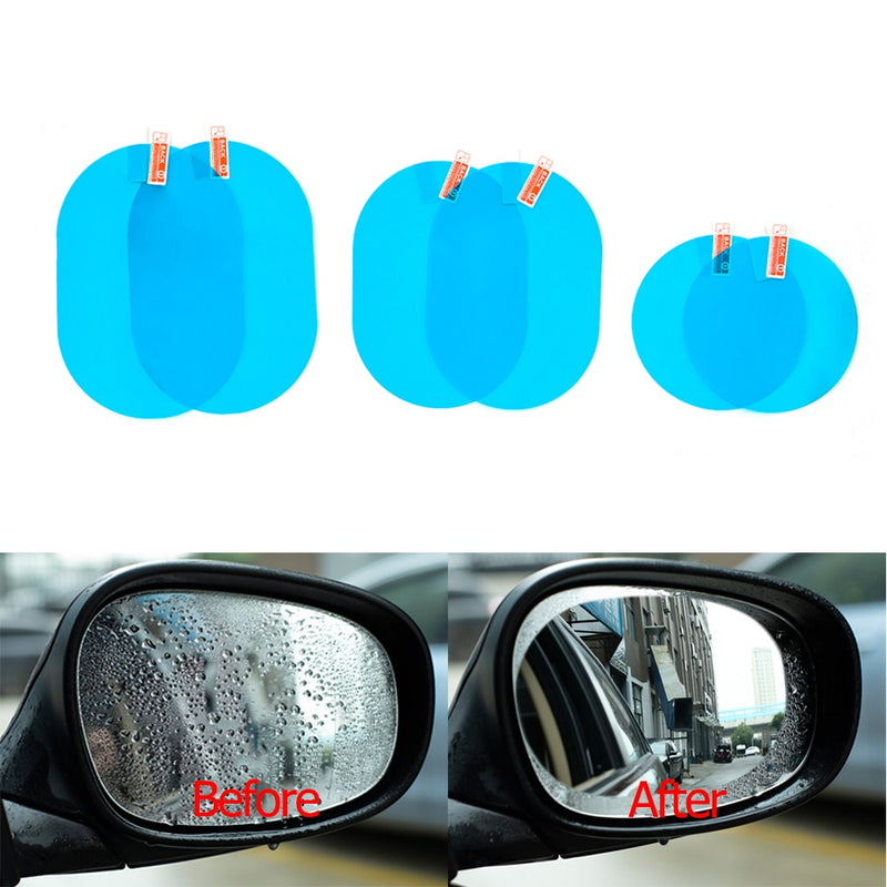 Anti Fog Car Sticker Car Mirror Window Clear Film Car Rearview Mirror Protective Film Waterproof 2 Pcs/Set|Car Stickers