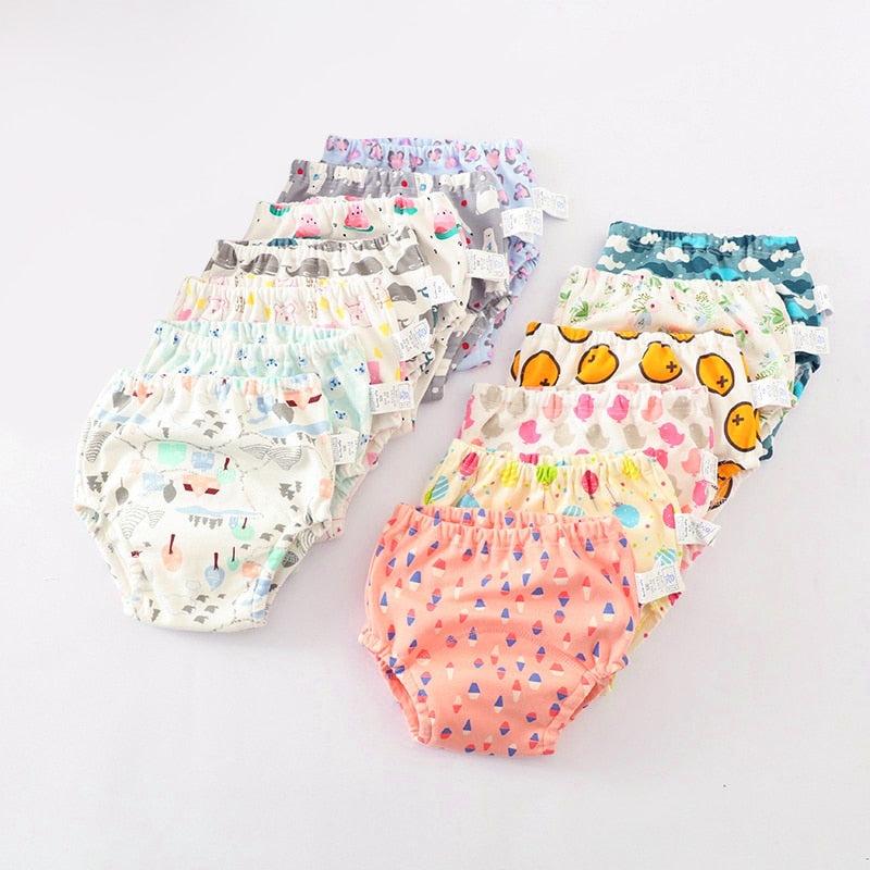 Baby Cotton Training Baby Diapers Reusable Cloth Diaper