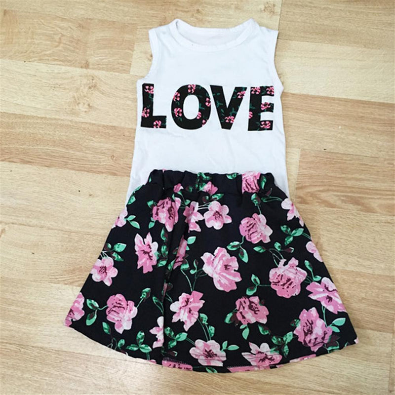 Toddler Girls Summer Casual Kids Suits Set