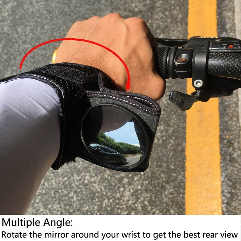 Bicycle Mirrors Bicycle Wrist Mirror Rearview Wristband Motorbike Handlebar Reflector Wristband Mirror Riding Equipment|Reflective Material