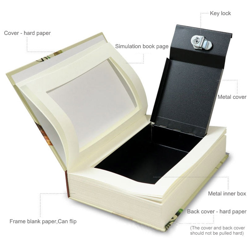 Book Safes Key Lock Type