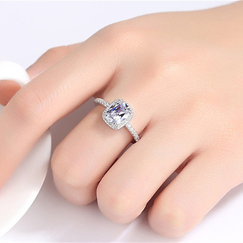 CC Rings For Women Bridal Wedding Anelli 925 Stamp Trendy Jewelry Engagement Ring White Gold Color Anillos CC595|925 sterling silver ring|sterling silver ringsrings for women