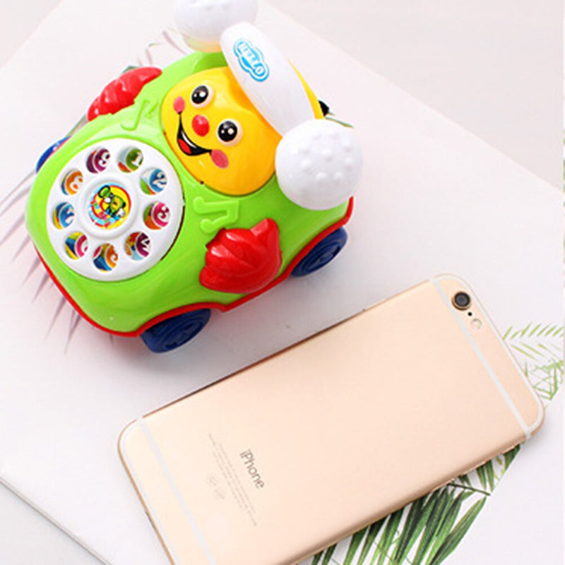 Smile Pull Wire Phone Baby Toy