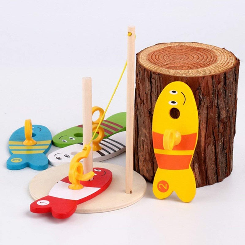 Wooden Fishing Toys