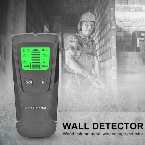 FLOUREON 3 in 1 Detektor Stud Center Finder Metal/AC live wire Detector Gelb|Security Metal Detectors