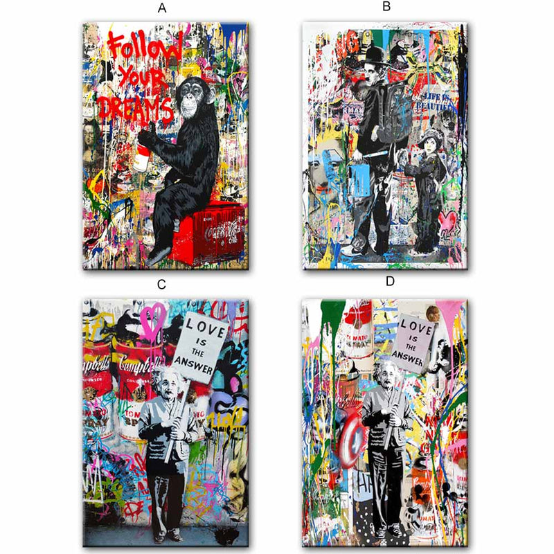 Follow Your Dreams Street Wall Graffiti Art Canvas
