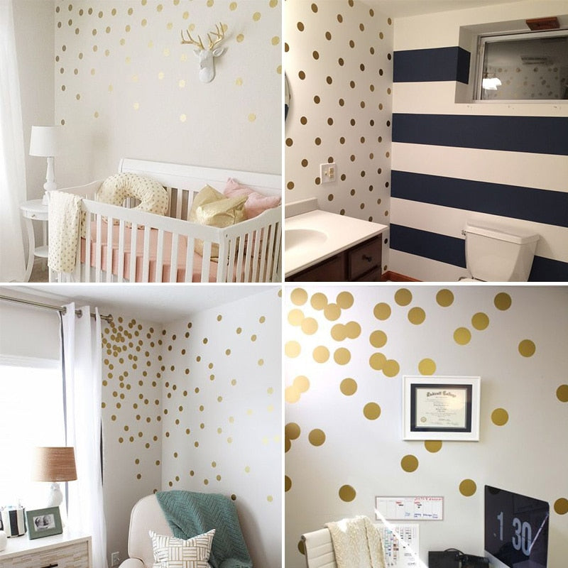 Polka Dots Kids Room Baby Room Wall Stickers