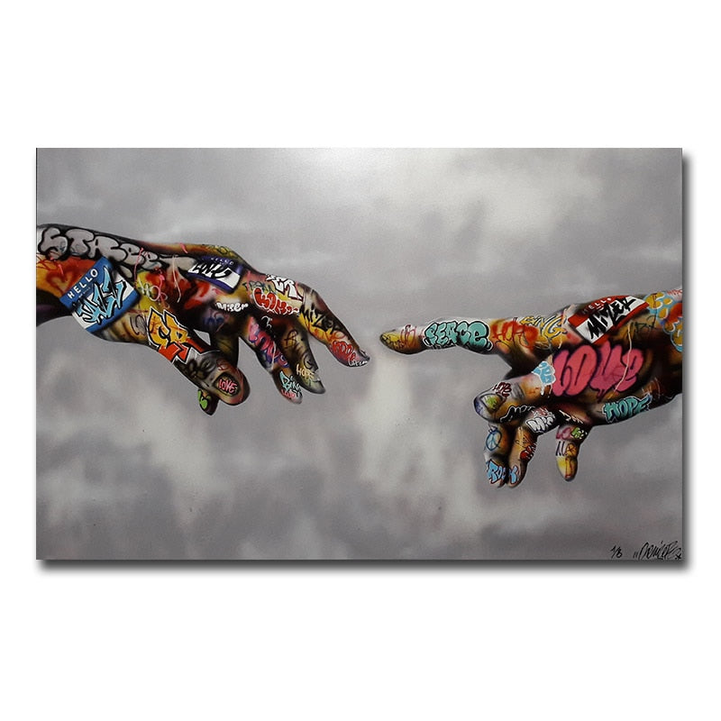 Street Art Urban Art on Canvas Hand Wall Pictures for Living Room
