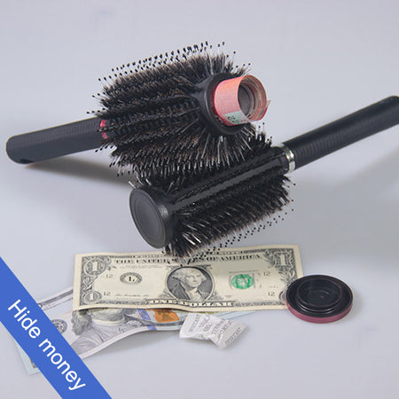 Hidden Safe Hair Brush Hide Money, Jewelry, or Valuables with Discreet Secret Removable Lid