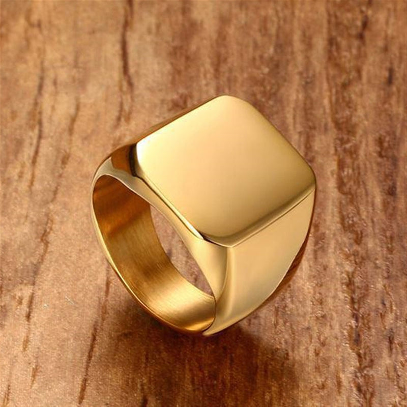 Men's Rings All gloss Square Solid Ring