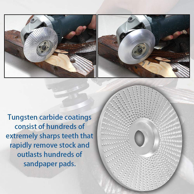 High Quanlity Wood Grinding Wheel Rotary Disc Sanding Wood Carving Tool Abrasive Disc Tools For Angle Grinder 4inch Bore|Abrasive Tools