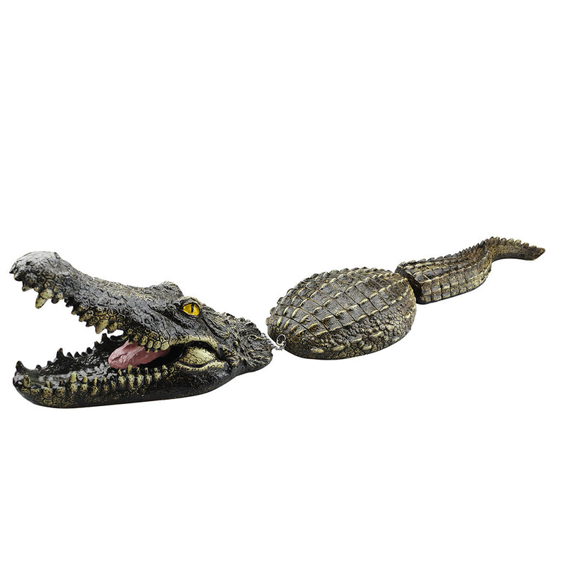 Crocodile Head Water simulation Floating Water Decoy Garden Pond Art Decor
