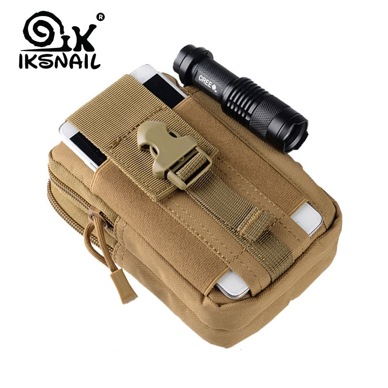 IKSNAIL Tactical Pouch Molle Hunting Bags Belt Waist Bag Military Tactical Pack Outdoor Pouches Case Pocket Camo Bag For Iphone|Hunting Bags