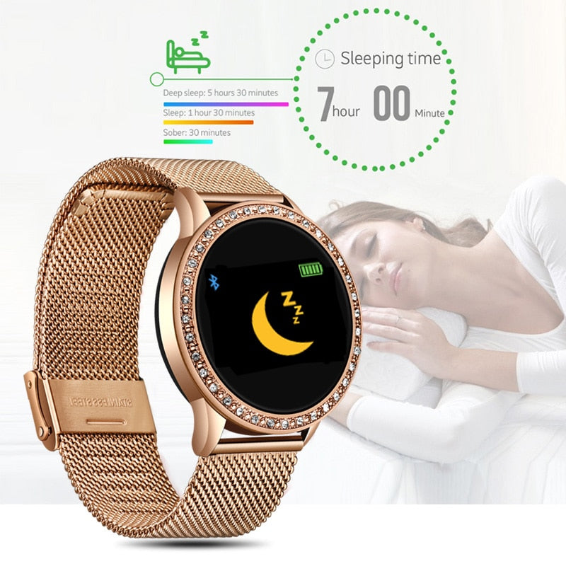 Ladies Smart Watch Women Blood Pressure Heart Rate Monitor Fitness tracker